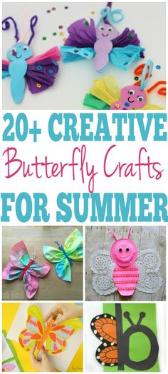 These butterfly crafts are so easy and fun to make with the kids and perfect for every age. You're going to love these easy DIY crafts. Diy And Crafts Sewing, Easy Diy Crafts, Simple Crafts, Diy Crafts For Kids, Fun Crafts, Chalk Crafts, Strip, Butterfly Crafts, Summer Crafts