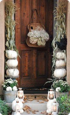 beautiful fall entry way