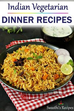 Indian dinner recipes - Collection of Indian dinner recipes includes one pot dishes, curries, instant recipes, indian soups and many more indiandinnerrecipes indianfoodrecipes 49891508359951902 Indian Vegetarian Dinner Recipes, Easy Vegetarian Curry, Indian Vegetable Recipes, Rice Recipes For Dinner, Easy Indian Recipes, Lunch Recipes, Easy Recipes, Ethnic Recipes, Indian Soup