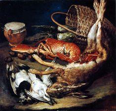 Giacomo Ceruti  - Tote Vögel, Hase und Hummer