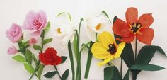 Out of crepe paper crafts: flowers, etc.