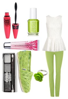 """""""Lemon Lime Soda"""" by katy-perry-xoxo-anon ❤ liked on Polyvore featuring 7 For All Mankind, Maybelline, TOMS, Essie, claire's and Pop Cutie"""
