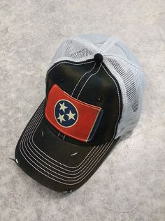 Hey, I found this really awesome Etsy listing at https://www.etsy.com/listing/463046205/tennessee-flag-baseball-trucker-mesh-cap