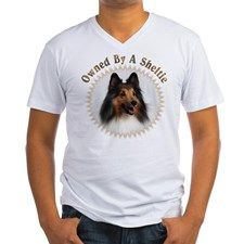 Owned By A Sheltie 999 Mens V-Neck T-Shirt