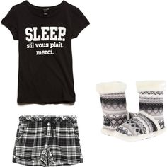 FBI Grace Lewis Pajamas by rawingpikas on Polyvore featuring DKNY, Forever 21 and M&F Western