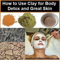 How to use clay for body detox  איך ומה על חימר לסוגיו,  מסכות  ועטיפות לגוף,  ניקוי רעלים. קסם במגע #ספא_במרכז אורגני ואקולוגי