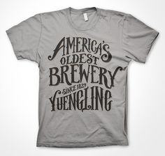 hand drawn type for screen prints for Yuengling Brewery