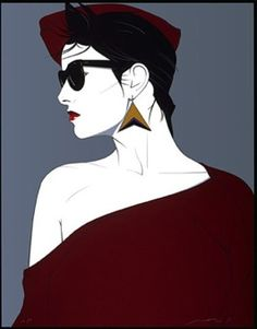Patrick Nagel Eighties Painting...famous 80s artist.  Best known for the Duran Duran covers