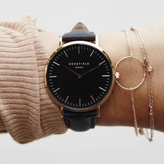 Rannekello | Black Rosefield watch
