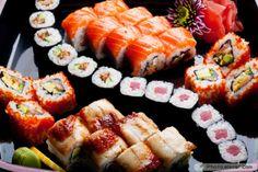 Different sushi rolls