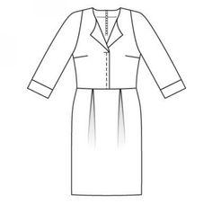 Dress: Burda 12/2008/121 / Burdastyle