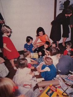 Birthday party for the first children, November 1962.