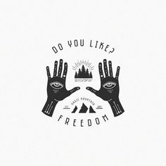 #my #work #design #project #print #printing #logo #logotype #freedom #free #hands #hand #magic #mountains #forest #river #wood #travel #love #nature #illustrator #illustration #photoshop #eutriv #prod by eutriv94
