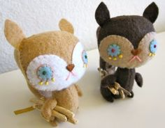 """Forest Friends """"happy creatures of the forest"""" + group art show + pop-up shop on view from Sept. Group Art, Forest Friends, Woodland Creatures, Holiday Crafts, Squirrel, Art Gallery, Plush, Felt, Teddy Bear"""