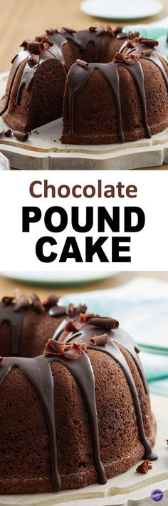 This Chocolate Pound Cake recipe is sure to satisfy all your chocolate cravings! Top cake with melted Dark Cocoa Candy Melts for a sweeter finish. Serve at gatherings with family and friends.