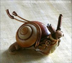 "Because what isn't cool about a steampunk snail? ""Steampunk Snail"" by Alex Pribnow"