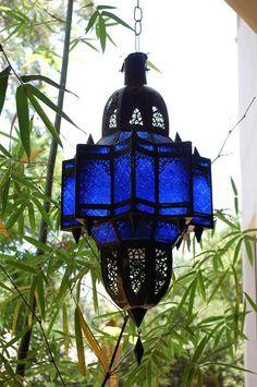 Moroccan Blue Lantern
