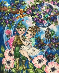 Adult Coloring, Coloring Books, Coloring Pages, Colouring, Mark 4, Prismacolor, Faeries, Fairy, Photo And Video