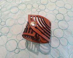 Arc Leather Cuff Bracelet - Edit Listing - Etsy