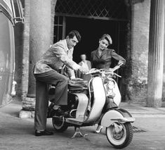 Dean Martin and a scooter