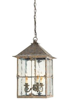 Bellamy Lantern 3-light | Currey & Company  2 over the island