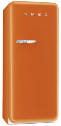 SMEG 50's Retro style in Orange {I love the orange, but I'd probably chicken out and get the safe silver color, which is still completely gorgeous}