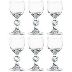 Bohemia Crystal Claudia set of 6 liqueur Glasses Stemmed Crystal Gift Boxed 50ML  | eBay