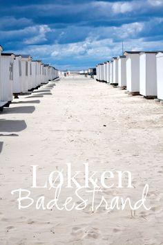 Urlaub in Dänemark: Die weißen Badehäuser am Strand von Løkken