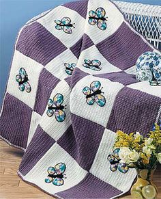 Ravelry: Butterfly Quilt pattern by Susie Spier Maxfield $3.99.