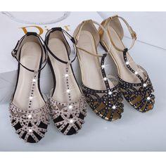 Подлинная алмазов полый шип ZARA2015 новые европейские и американские женщины бьют цвета с сандалии плоские сандалии случайных - Taobao
