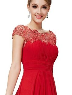 Ever Pretty Womens Elegant Formal Mother of the Bride Dress 10 US Light Red