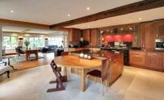 Crowbourne Grange - Stunning American Walnut Bespoke Kitchen by Edmonson Interiors in Goudhurst Kent