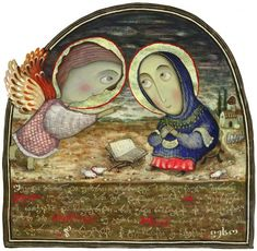 """""""The Annunciation"""" by David Popiashvili  from his book Stories of Jesus Christ"""