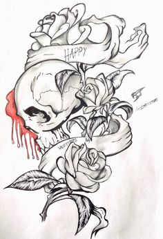 Valentine skull tattoo by Xemta1027 on deviantART