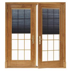 double front doors exterior   ... ® In-Swing Door, Clad Exterior, French-Double, Active-Passive Units