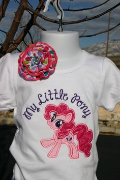Pinke Pie Pony birthday Shirt, My little Pony, Personalized Shirt, Embroidered, Appliqued, Monogrammed on Etsy, $27.50