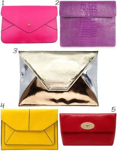 5 ladies' clutch bags