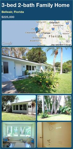 3-bed 2-bath Family Home in Belleair, Florida ►$225,000 #PropertyForSale #RealEstate #Florida http://florida-magic.com/properties/23427-family-home-for-sale-in-belleair-florida-with-3-bedroom-2-bathroom