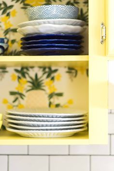 Amanda Louise Interiors Yellow Kitchen Photo by Luke Cleland Kitchen Photos, Wood Pieces, Boy Room, Craft Stores, All The Colors, Amanda, Interiors, Flooring, Yellow