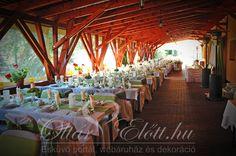 Főasztal háttér Puskás Ferenc Sport Hotel zöld esküvő