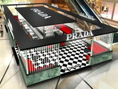 Galaxy Macau and Prada have introduced the Prada Spirit retail project, running until the end of next month. Stella Mccartney, Exhibition Stall Design, Visual Merchandising Displays, Wattpad, Retail Store Design, Pop Up Shops, Concept Architecture, Macau, Booth Design