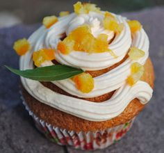 Deliciosas cupcakes de mandarina y almendras #recetas #repostería