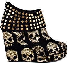 Skull Wedge Bootie - Hell ya!
