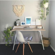 """516 Likes, 12 Comments - Kmart Desired & Inspired Home (@kmart.desired.inspired.home) on Instagram: """"Cute little corner desk set up by @artbyrhii Kmart desk, chair, cushion, plant stand and pot,…"""""""