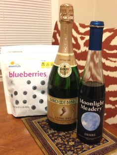 my woman @Kata 's BALLIN recipe: Berry BlueBalls - champagne, mead, & blueberries
