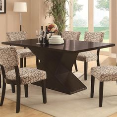 Coaster Libby Dining Table with Hourglass Base - Coaster Fine Furniture