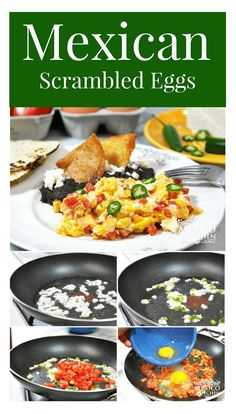 Scrambled Eggs │Huevos a la Mexicana (Scrambled Eggs Mexican Style) are a popular dish for breakfast or brunch all over Mexico, whether it be in a restaurant or at home. #mexicanrecipes #mexicanfood #mexicancuisine #breakfast