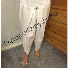 """""""One size s/m raw silk tulip shalwar available for instant ship"""" Sharara Designs, Kurti Neck Designs, Blouse Designs, Tulip Pants, Salwar Pants, Salwar Pattern, Pakistani Formal Dresses, Flowy Pants, Desi Clothes"""
