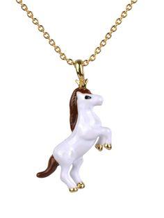 #lesnereides #lesnereides-paris #jewelry #designer #necklace #horse #white-horse #chinese-new-year #horse-year #astrology #chinese-astrology #enamel #handmade #cute  Shop on #lesnereides-usa.com