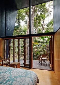 House built for rainforest - Cape Tribulation House by homes australia beach houses A house designed for life in a tropical rainforest Style Tropical, Tropical House Design, Modern Tropical, Tropical Houses, Tropical Doors, Tropical Windows, Tropical Architecture, Architecture Panel, Architecture Design
